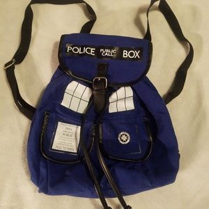Doctor Who Blue Backpack 100% Cotton